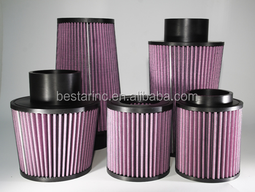 Motoring parts high flow car washable air filter