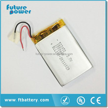 lithium ion polymer battery 3.7v 1000mah 523450 lipo battery rechargeable battery