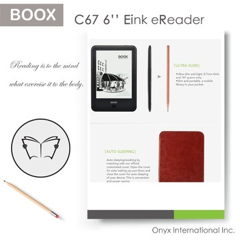 android smart reading ebook device with full screen touch