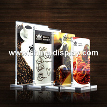 Clear Acrylic Material Acrylic Menu Tag Holder for Hotel, Restaurant