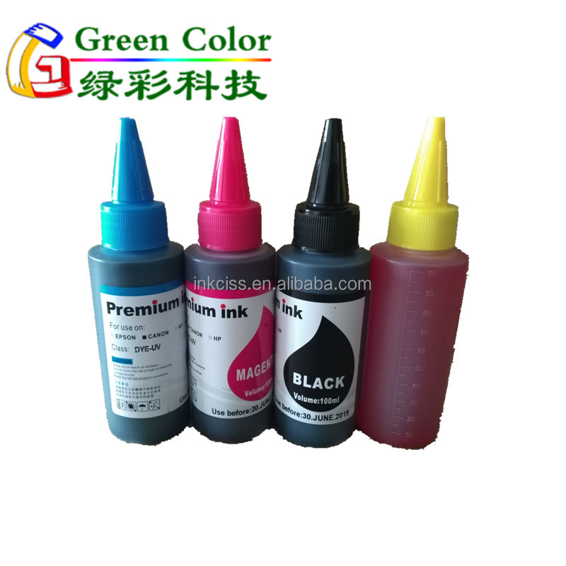 Hight quality 100ml 250ml 500ml 1000ml universal dye ink for Canon printer CISS refill ink