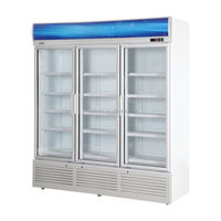 Direct Cooling 3 Door Beverage Refrigerated Display Cooler