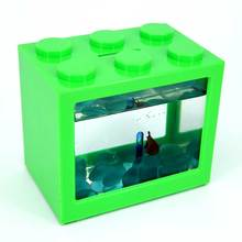 betta fish farming tank with USB LED lighting for Aquaculture