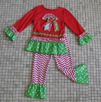 baby new year gift red green apparel girl christmas suit wholesale