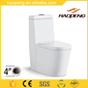 4 inch One Piece Ceramic Toielt Seat Water Closet