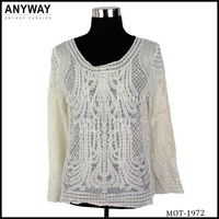 Elegant crochet lace blouse for women