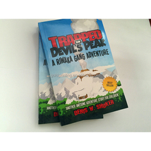 printing cheap softcover novel books with custom design