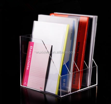 A4 Desktop Information Document Display Stand Clear Acrylic Brochure Holder 3 tier