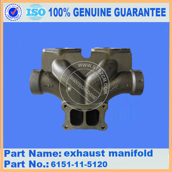 PC450-7 exhaust manifold, 6151-11-5120,6151-11-5110,6151-11-5130