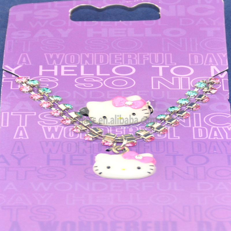 2016 top whloesale Hello Kitty necklace ,.Hello Kitty jewelry for children