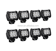 2018 Hot sale 4X4 accessories offroad 9-32V JEEP Wrangler Truck ATV 18W led work light bar waterproof IP67