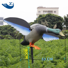 2017 Xilei Artificial PE Duck Remote Control Duck Pool Plastic Craft Home Garden Decor Ornament With Spinning Wings