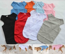 Dog Clothing Wholesale 100% Cotton Large size dog clothes Ribbed Tanks Top T-shirts