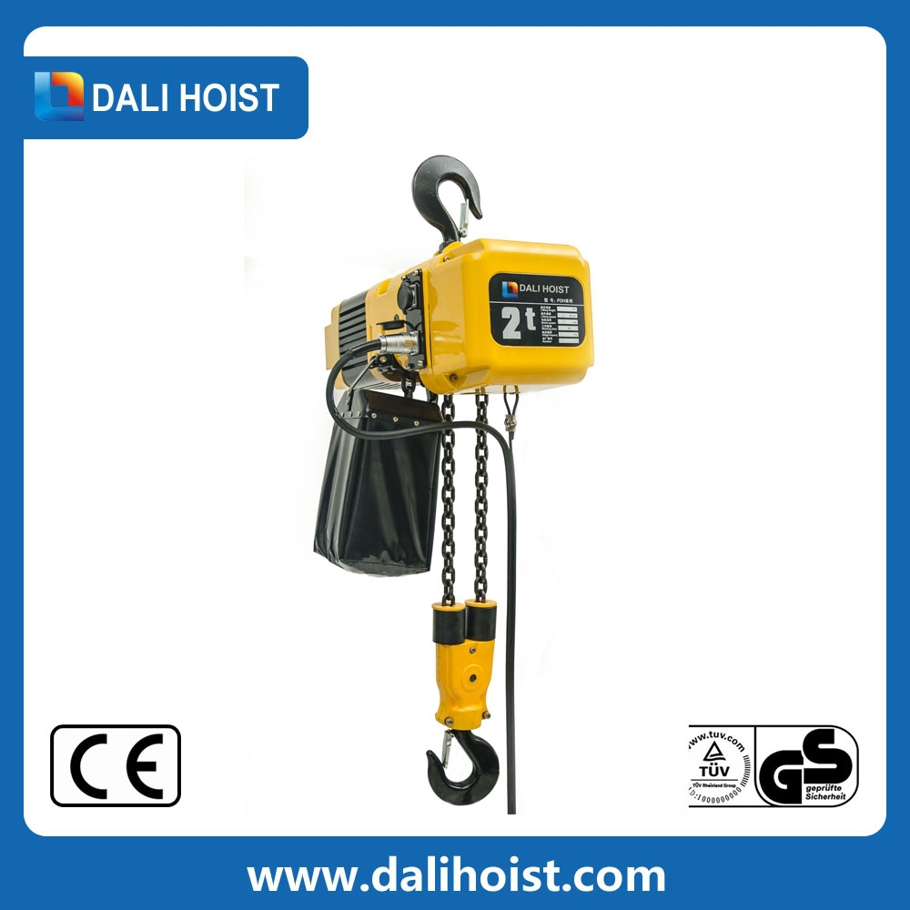 limit space electric chain hoist with low headroom