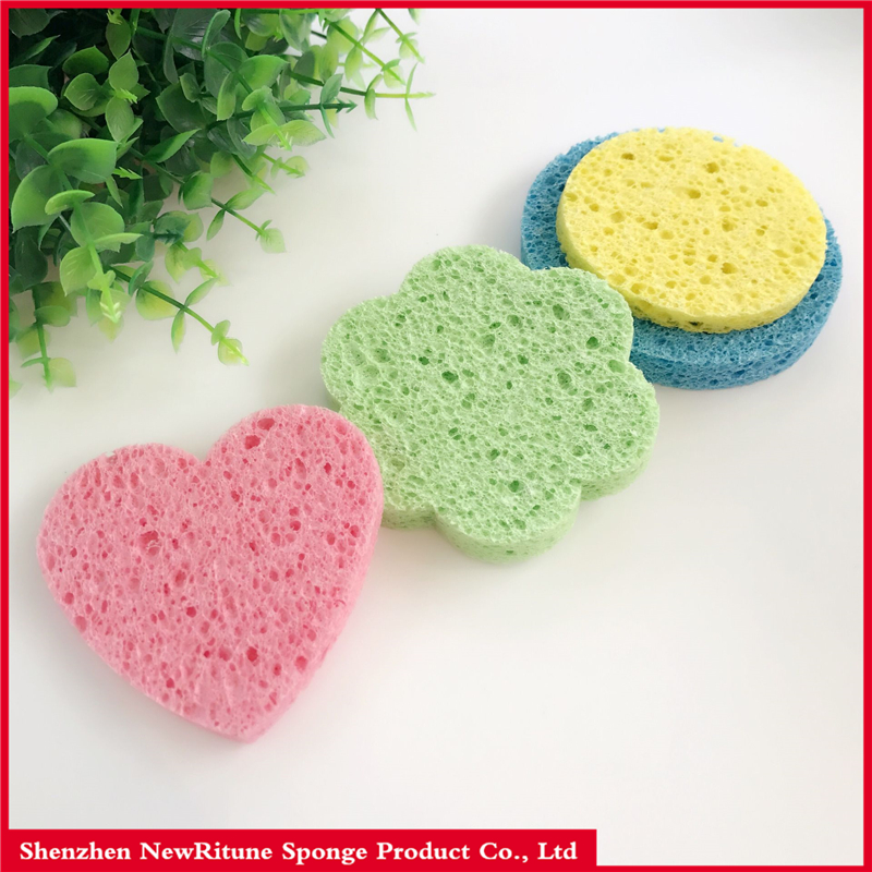 New Style Variety Shapes Natural Cleaning Sponge Wood Pulp Sponge