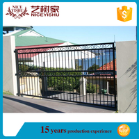wrought iron gate grill designs with powder coated/iron gates design/main gate design home