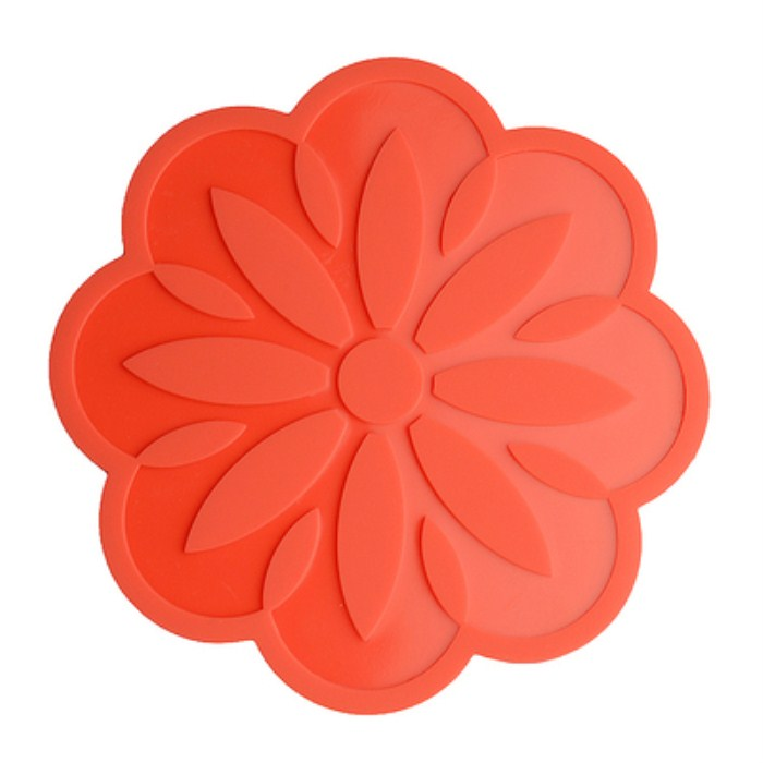 Peach Blossom Shaped Heat Proof Custom Silicone Rubber Drink Coffee Coaster