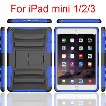 Shell Shock Hybrid Kickstan Case Cover Holster Combo With Belt Clip For Ipad Mini123