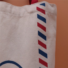 New style dyed polyester/cotton interwoven plain korean fabric canvas drawstring bag