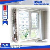 Swing opening single glazed pvc window frame with Germany hardware