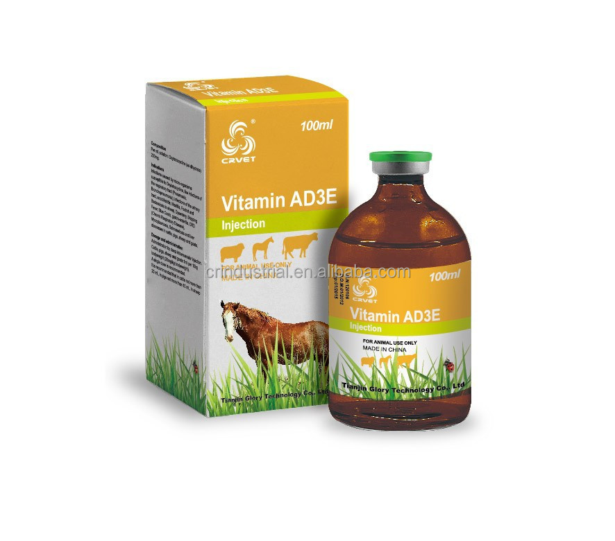 Poultry vitamin ad3e injection feed grade veterinary medicine
