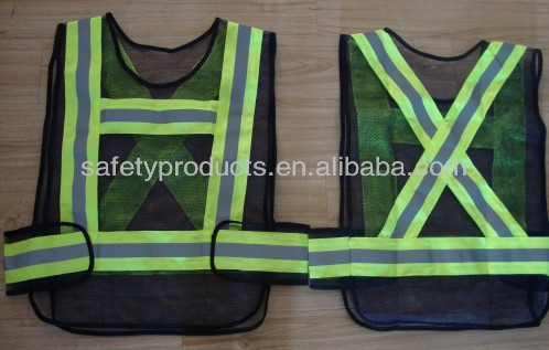 black and yellow safety vest