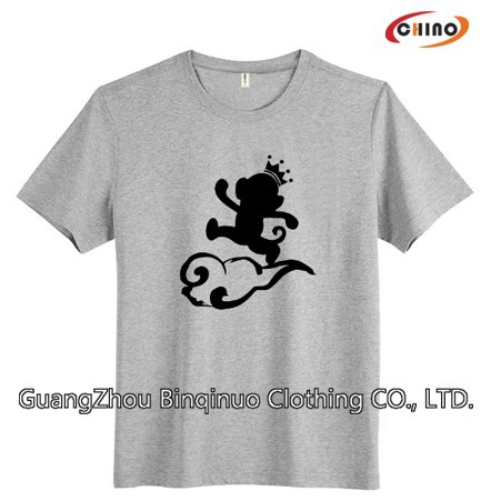 Customized 100% Cotton V-neck T-shirt Online Shopping Supplier