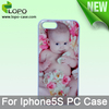 Blank Sublimation Case for iphone5/5s , pc case cover with metal insert