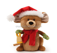 christmas animated electronic plush toys/movement plush animal toys
