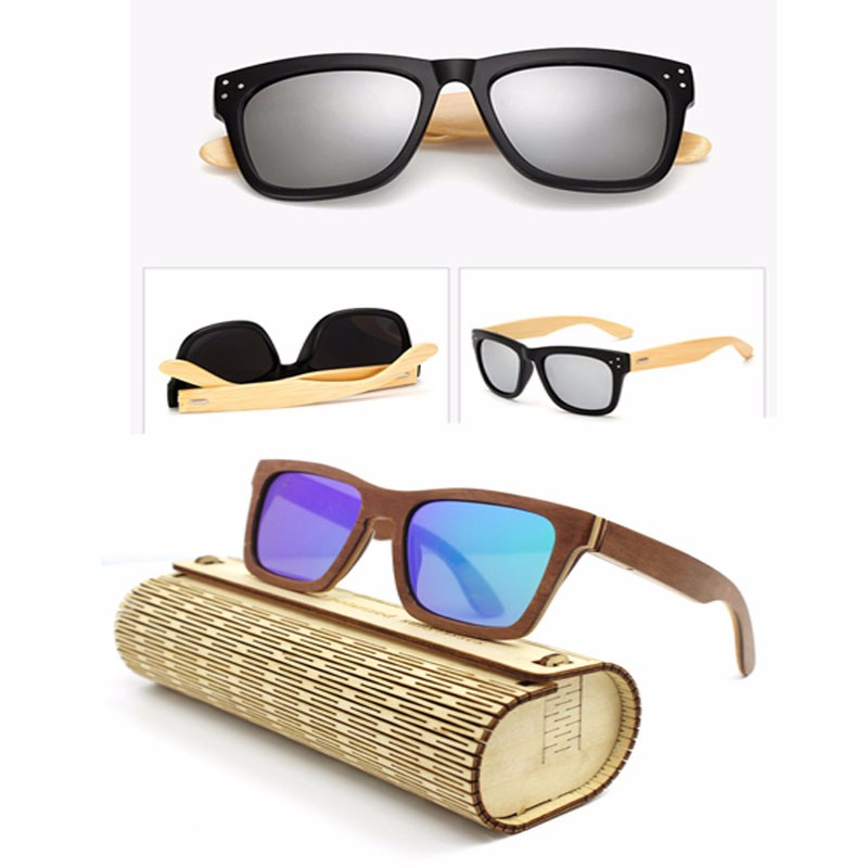 Wooden Sunglasses 2017 New Fashion Men Women Bamboo Handmade Anti Glare