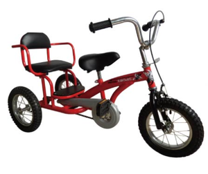 metal frame 2 seats children tricycle for entertainment