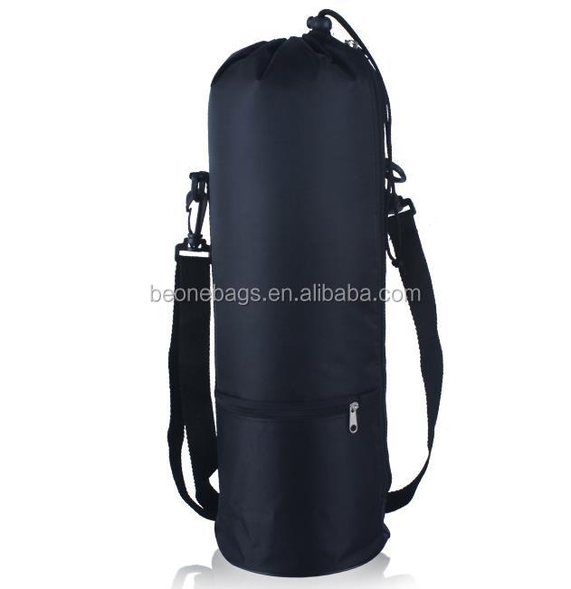 Polyester drawstring bag hot water bottle cooler bag