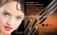 Waterproof makeup pencil for eyebrow & lip design