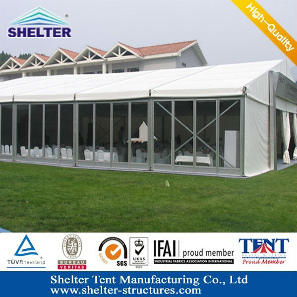 Compare300 peolle Aluminum Folding big event tents made in Guangzhou Shelter