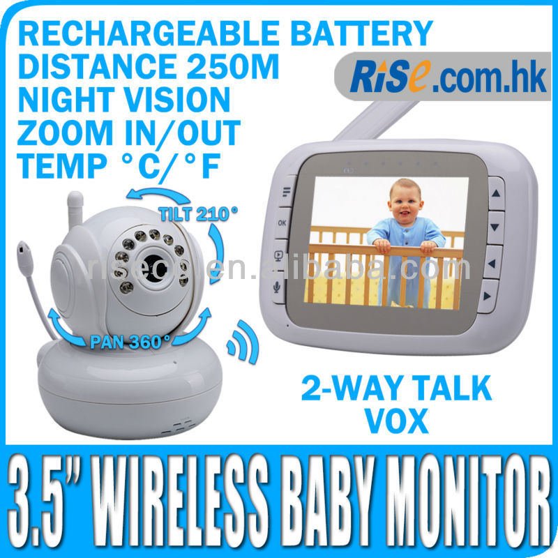 3.5 Camera Digital Night Vision Pan Tilt PTZ Zoom Video Wireless Baby Monitor