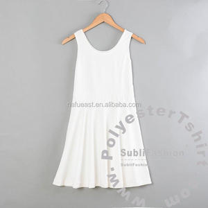print your design dress. Sublimation blank dress Diy. No minimum. high quality with good price.