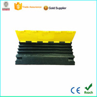 factory hot sale 4 channel rubber cable protector ramp