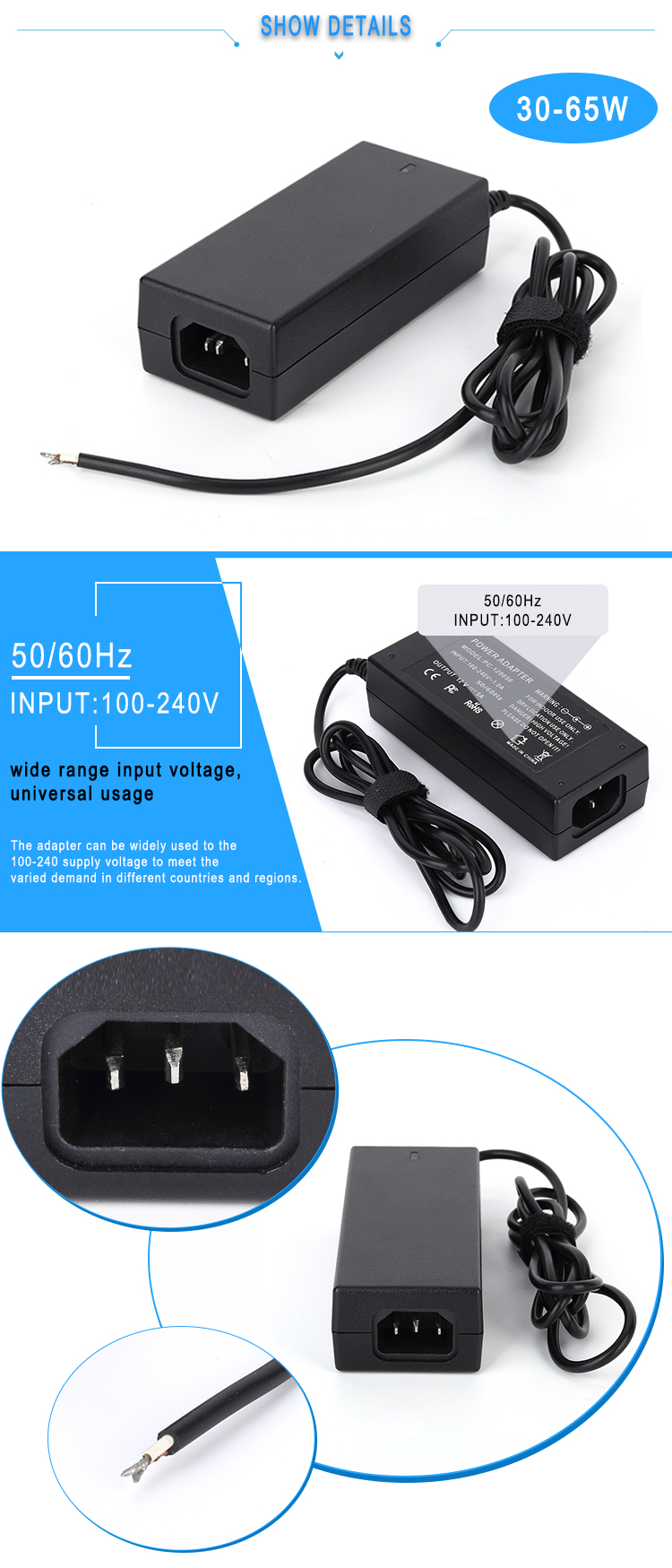 China Wholesale Original or Replacement Laptop Adapter for 19.5V 3.34A 65W