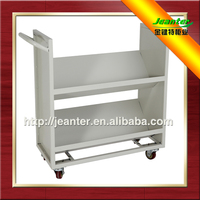Library Sloped Book Cart / Mobile Steel Book Trolley For Sale
