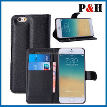 Factory price beautiful fashion wallet leather flip case for iphone 6 plus