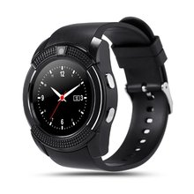 OEM ODM Smart Watch Bluetooth Wrist Watch Bracelet Smart Phone Cellphone V8 Watch for Android Smart Phone