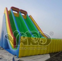 Top selling giant inflatable slide large double lanes slide