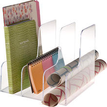 custom home office decoration acrylic book shelf dividers display for bookcase stand