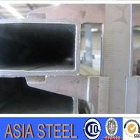 Thin Wall Steel Square Tubing/furniture Rectangular Welding Square Steel/black Iron Pipe Weights