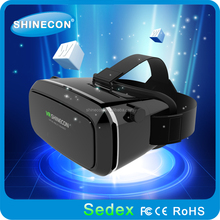2017 hot shinecon newest google 3d video glasses high quality ABS plastic vr glasses best price for smartphone