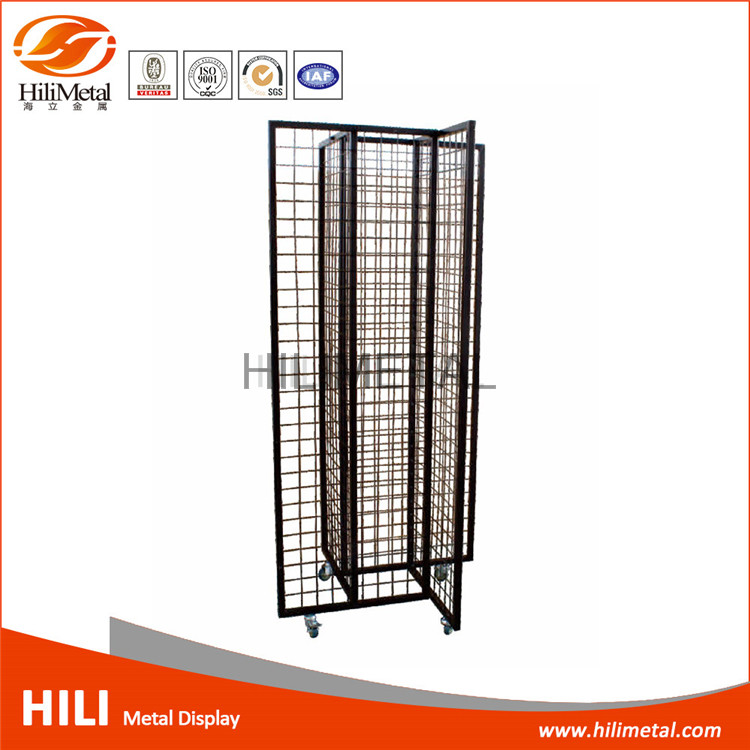 Mesh modern display rack flip flops display rack