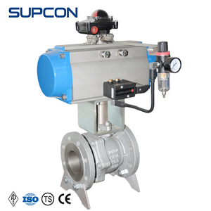 Rotary mini ball valve actuator flanged ball valves