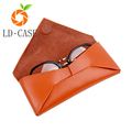Custom logo sunglass eyeglass cases sunglasses leather case