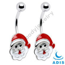 piercing navel belly button with Father Christmas logo supply