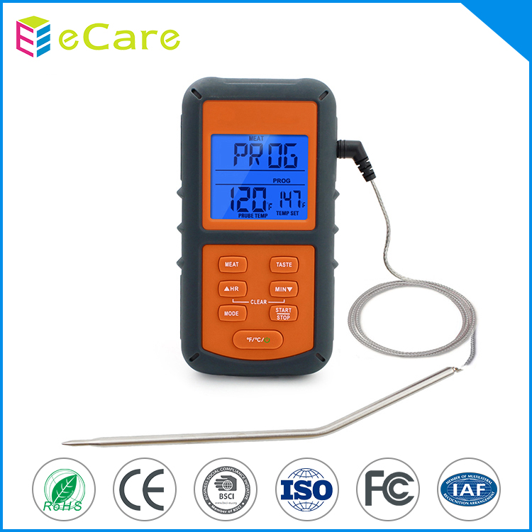 Digital metal probe cooking electronic food thermometer with alarm